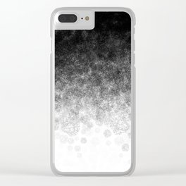 Disappearing Fog - Black and White Gradient Clear iPhone Case