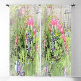 Floral Fantasy Bleeding Hearts and Bluebells Blackout Curtain