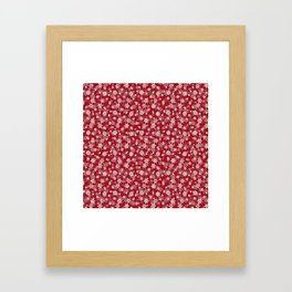 Christmas Cranberry Red Jelly Snow Flakes Framed Art Print