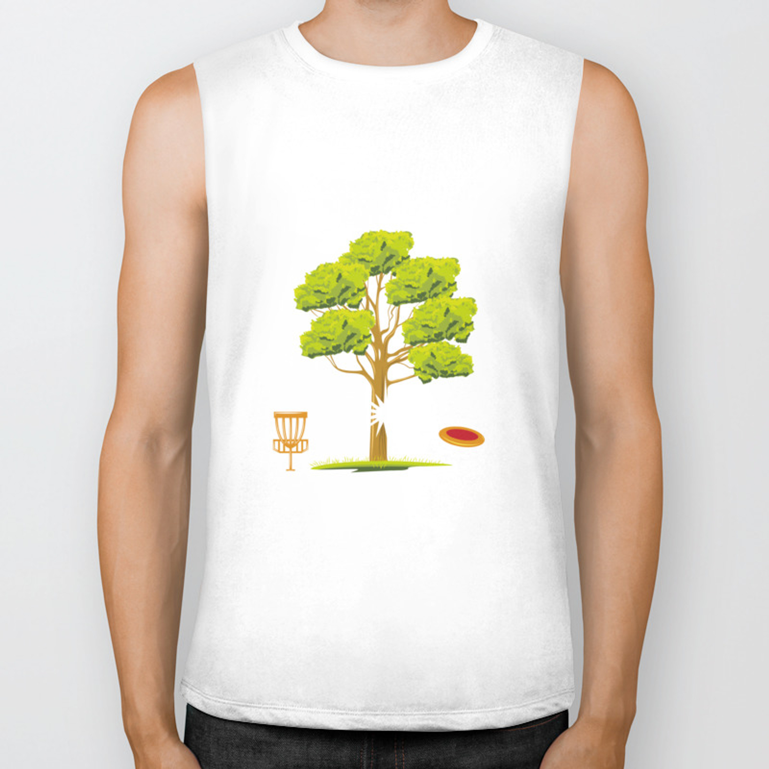 Treejection - Funny Disc Golf Quotes Gift Biker Tank by yeoys