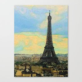 Watercolor Dream of Paris Canvas Print