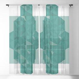 cool hard soft Sheer Curtain