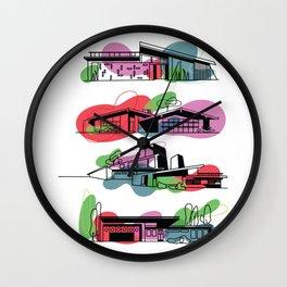 Honey, I'm Home! (Tangerine Tango) | @makemeunison Digital Art Wall Clock