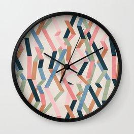 Straight Geometry Ribbons 1 Wall Clock