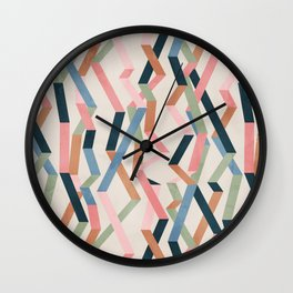 Straight Geometry Ribbons 1 Wall Clock