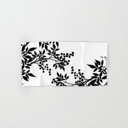 Black and White Leaf Toile Hand & Bath Towel