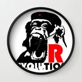 Revolution - Evolution - chimp Wall Clock