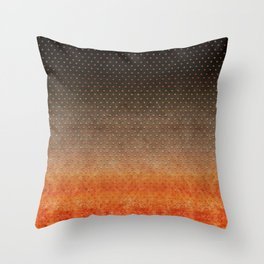 """Sabana Night Degraded Polka Dots"" Throw Pillow"