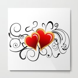 Love Hearts Metal Print