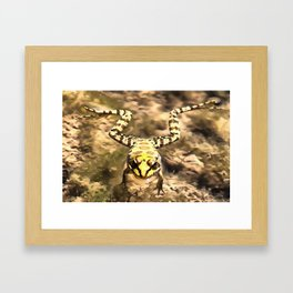 Swimming Frog Framed Art Print