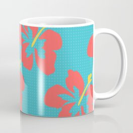 Flowers illustrated (light blue background) Coffee Mug