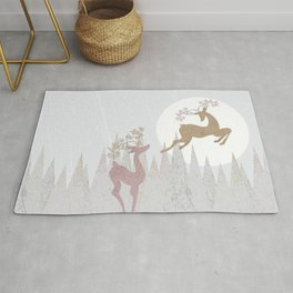 Love. Winter. Deer. Rug
