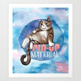 Pin-up Material Art Print
