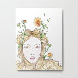 Gaillardia Fairy Metal Print