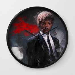 Jules Winnfield Witnesses A Miracle - Pulp Fiction Wall Clock