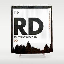An Element of Discord (Wood Orange) Shower Curtain