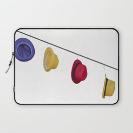 isolated colorful hats hanging at the party Laptop Sleeve