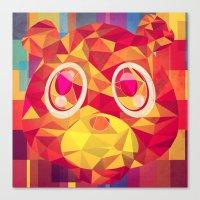 teddy bear Canvas Prints featuring TEDDY by Original Bliss