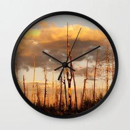 Dusk in Hell Wall Clock