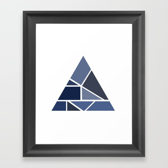 Triangle puzzle Framed Art Print