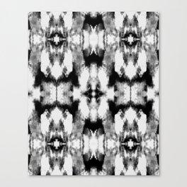 Tie Dye Blacks Canvas Print
