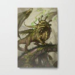 Zodiac Dragons Calendar Taurus Metal Print