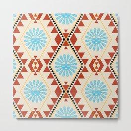 Southwest - Blue Hopi Sun Metal Print
