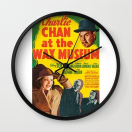 Charlie Chan at the Wax Museum, vintage movie poster Wall Clock