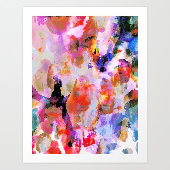 Blushed Abstract  Art Print