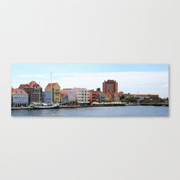 Willemstad on Curacao Panorama Photo Canvas Print