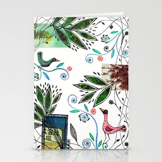 Through the jungle web Stationery Cards