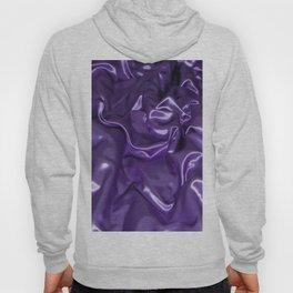 Closeup Of Rippled Purple Satin Fabric Hoody