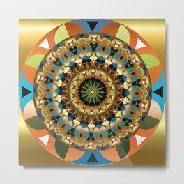 Navajo Mandala Metal Print