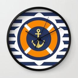 At Anchor Wall Clock