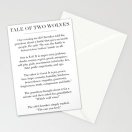 The Tale of Two Wolves Stationery Cards