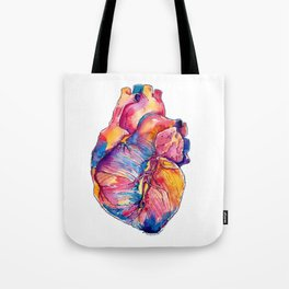Heart Is On Fire Tote Bag