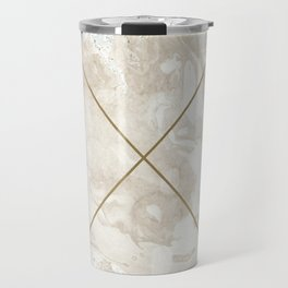 Gold & Marble 01 Travel Mug