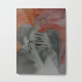 She couldn't let go  Metal Print