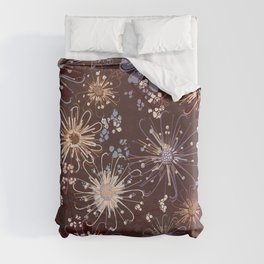 Amber Spice Florals Duvet Cover