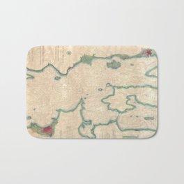 Vintage Map of Lake Champlain (1874) Bath Mat