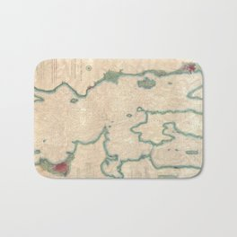 Vintage Map of Lake Champlain (1874) Bath Mat