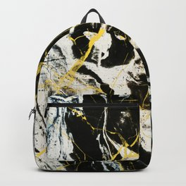 Gold And Marble Pattern Backpack