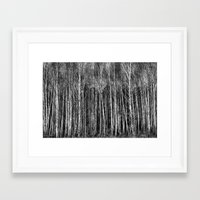 forrest Framed Art Prints featuring Forrest by Wojtek Sadowski