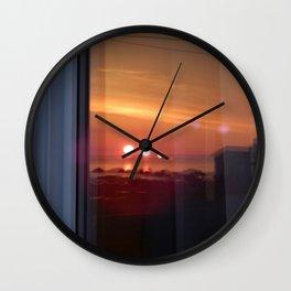 4 Suns in a Window Wall Clock