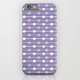 Dots Stripes Ultraviolet iPhone Case