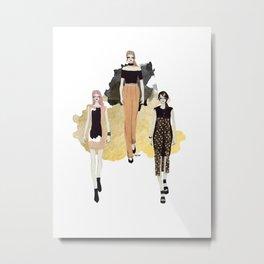 Fashionary 5 Metal Print