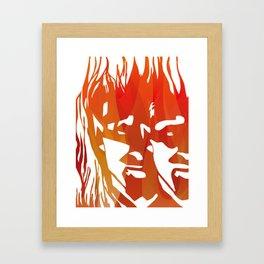 Inside evil Framed Art Print