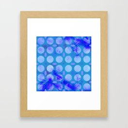 Pattern 3 Blue Framed Art Print