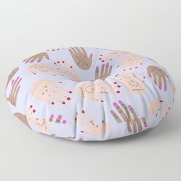 hands boucherouite Floor Pillow