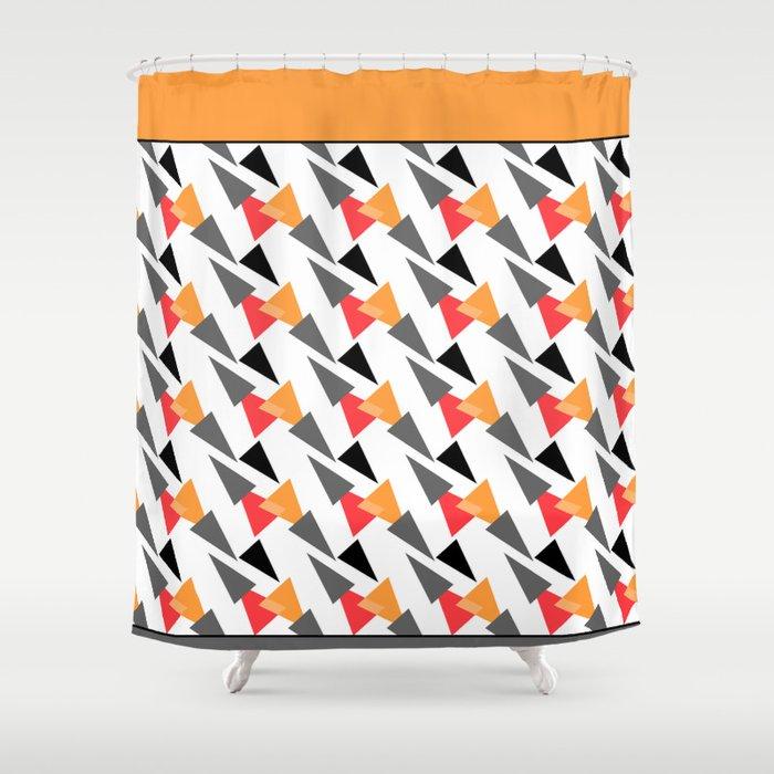 Margarita Abstract Retro Shower Curtain
